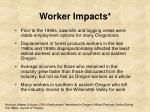 worker impacts