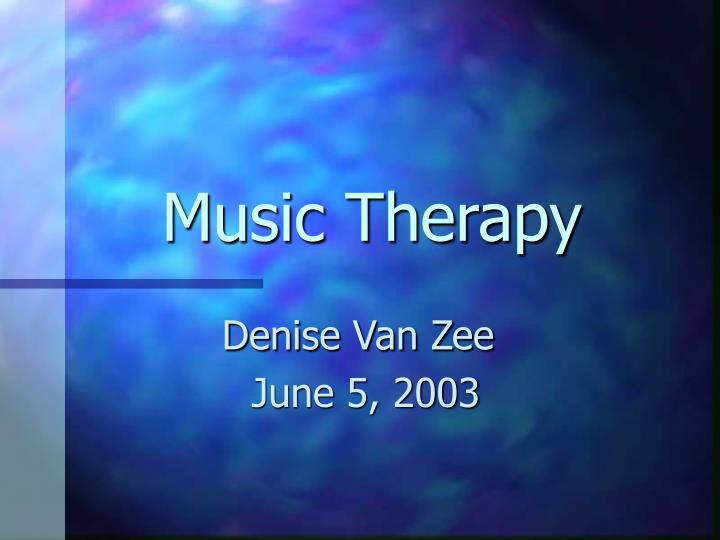 music therapy n.
