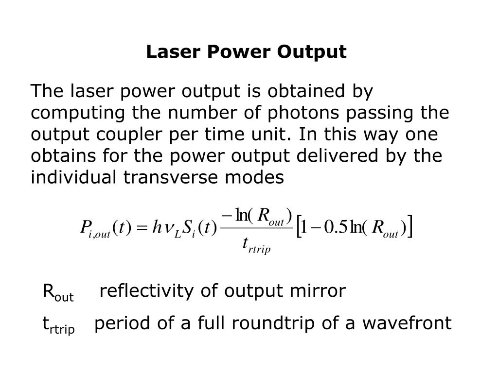 Laser Power Output