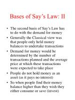bases of say s law ii