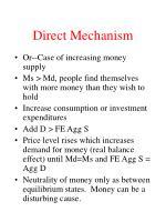 direct mechanism12