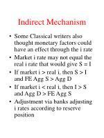 indirect mechanism
