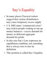 say s equality