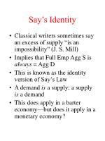 say s identity