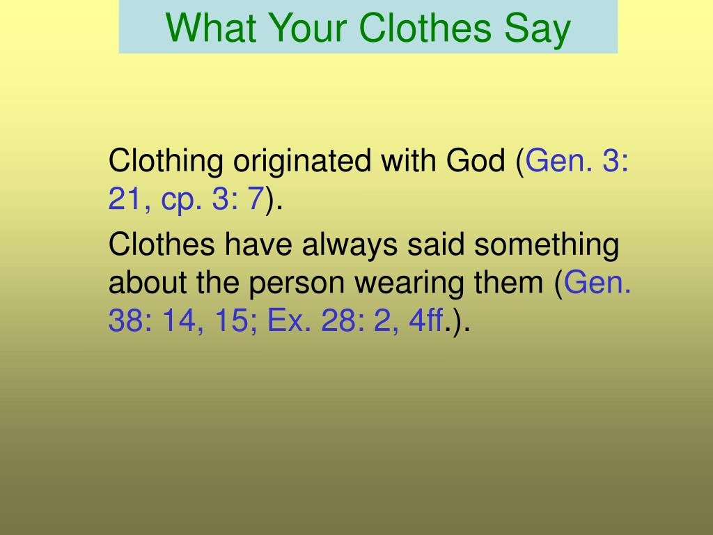 what your clothes say l.