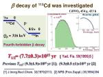 decay of 113 cd was investigated