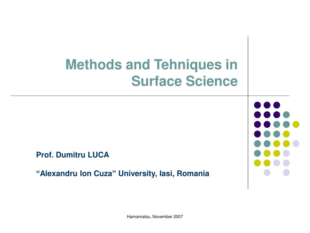 methods and t ehni ques in surface science l.