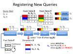 registering new queries