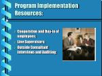program implementation resources