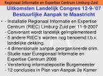 uitkomsten landelijk congres 12 9 07 bestuurlijke aanpak te maastricht