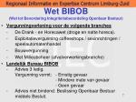 wet bibob wet tot bevordering integriteitsbeoordeling openbaar bestuur