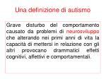 una definizione di autismo