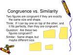 congruence vs similarity