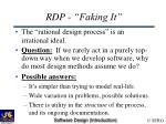 rdp faking it