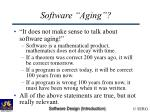 software aging41