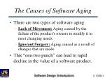 the causes of software aging