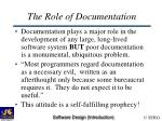 the role of documentation