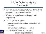 why is software aging inevitable
