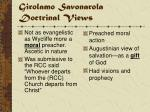 girolamo savonarola doctrinal views