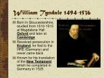 william tyndale 1494 1536