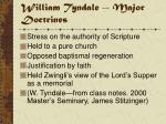 william tyndale major doctrines