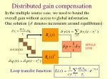 distributed gain compensation