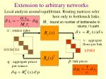 extension to arbitrary networks