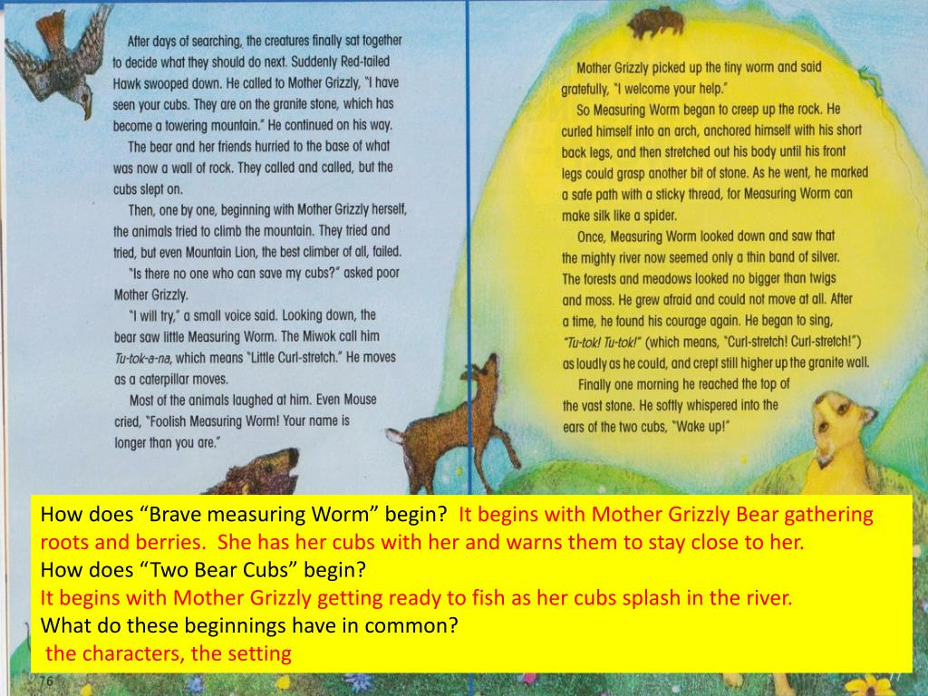 """How does """"Brave measuring Worm"""" begin?"""