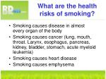 what are the health risks of smoking