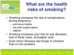what are the health risks of smoking8