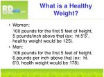 what is a healthy weight