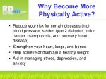 why become more physically active