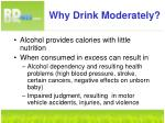 why drink moderately