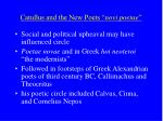 catullus and the new poets novi poetae