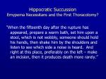 hippocratic succussion emypema necessitans and the first thoracotomy