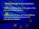 methodological assumptions