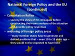 national foreign policy and the eu continued
