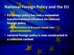national foreign policy and the eu