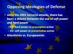 opposing ideologies of defense