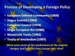 process of developing a foreign policy
