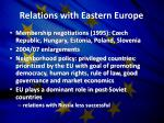relations with eastern europe