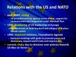 relations with the us and nato