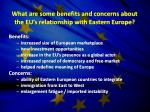 what are some benefits and concerns about the eu s relationship with eastern europe
