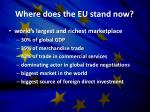 where does the eu stand now