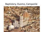 baptistery duomo campanile