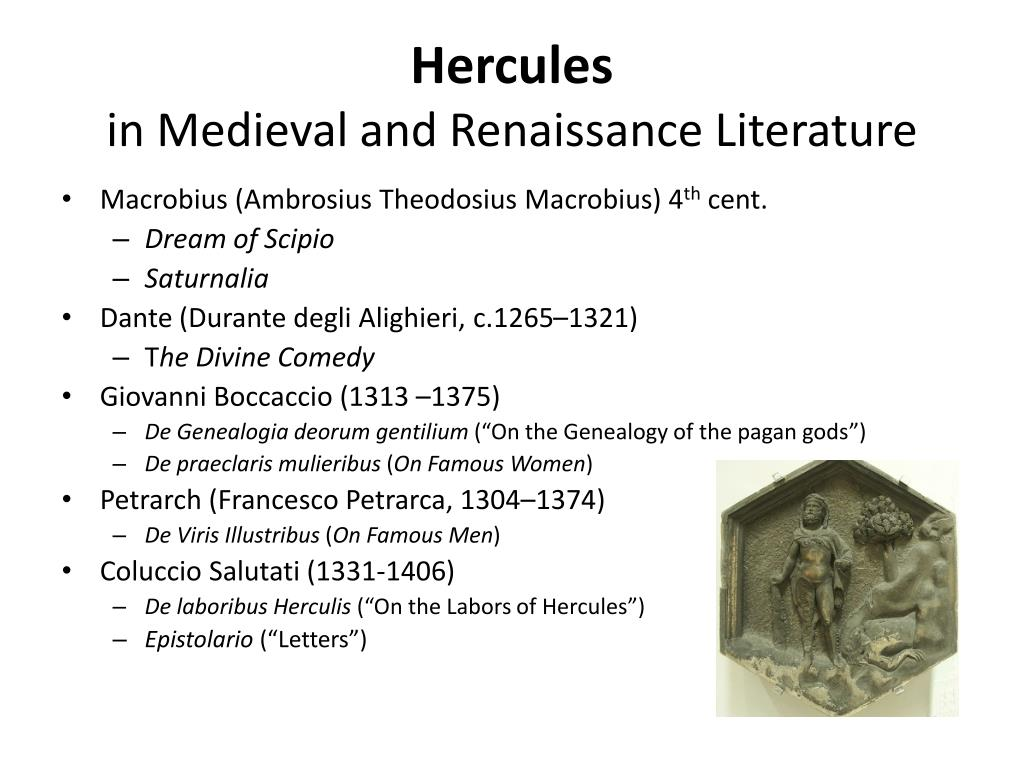 hercules in medieval and renaissance literature l.