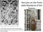 hercules on the porta della mandorla of the duomo