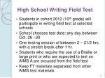 high school writing field test