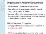 organization answer documents