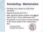 scheduling mathematics
